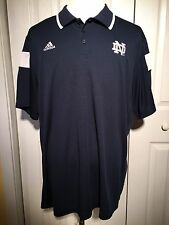 Notre Dame adidas Climalite Polo Golf Collar Shirt Adult XXL 2XL Fighting Irish