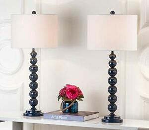 Safavieh Lighting Collection Jenna Navy Stacked Ball 32-inch Bedroom Living R...