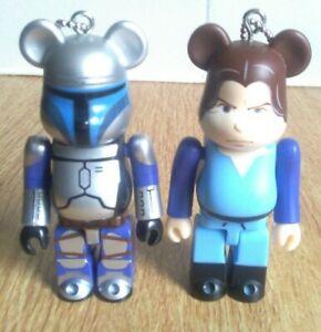 Medicom Bearbrick Star Wars Jango Fett and Young Boba Fett Figures Bundle