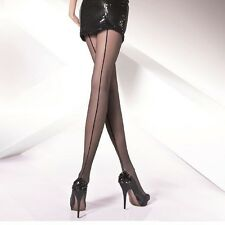 "Sexy Seamed Back Line Patterned Sheer Tights ""Iga"" Pantyhose - 20 Den"