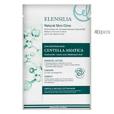 Elensilia Natural Skin Clinic Centella Asiatica Mask 40 pcs Cotton 100% Snail