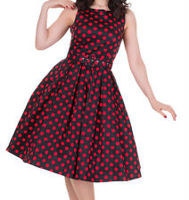 Dolly and Dotty/ Annie dress/ black/ red polka dots/ size 10 - 655