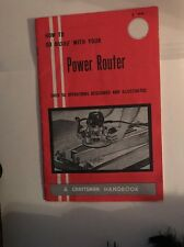 JB743 How To Do More With Your Power Router A Craftsman Handbook
