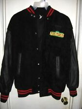 Disney Wide World of Sports Complex Black Coat Embroidered Letterman Jacket M