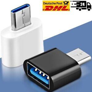 USB-C Stecker auf USB-A Stecker Adapter Konverter Buchse Laden Stick NEU