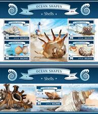 Shells Muscheln Schalen Marine Fauna Lighthouses Maldives MNH stamp set
