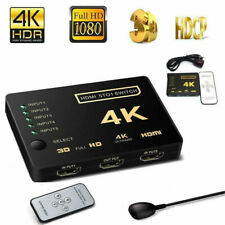 1080P 4K 5 IN 1 OUT 5 INPUT 1 OUTPUT HDMI SPLITTER 5 Port SWITCH BOX HUB 3D UHD