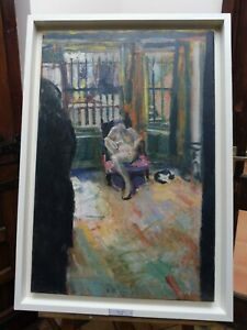LARGE OIL ON CANVAS ZOE EXB 1971 ARTIST D CARR GALLERY LABEL VERSO FREE SHIPPING