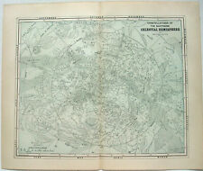 Original Celestial Star and Solar System Map 1891 - Northern Hemisphere