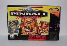 SNES Super Pinball Behind the Mask Nintendo Video Game Cartridge, Manual & Box