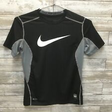 Nike Pro Combat Boys Dri-fit Fitted Gray/Black S/S  Sz S Chest 16 1/2""