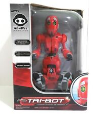 WowWee RS Tribot Talking Companion Red Rolling Robot