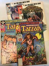 Tarzan Lord of the Jungle #13, 20 & Tarzan of the Apes #1-2, Marvel Comics 4 pcs