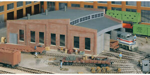 Walthers Cornerstone HO Scale Building/Structure Kit Three Stall Roundhouse