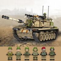 1753pcs Militär Panzer Tank Modell Bausteine sets mit WW2 Soldat Figuren Blöcke