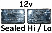 1 pr JTX 12V Sealed Beam Hi/Lo High/Low Headlights Head Lights 6x4, 4x6, 160x100