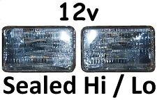 Sealed Beam 12V Hi/Lo High/Low Headlights Head Lights 6x4 4x6 160x100