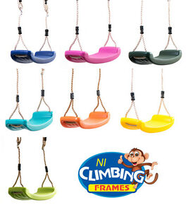 Children/'S Outdoor Replacement Swing Seat Height Adjustable Rope Climbing tudou