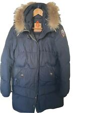 PARAJUMPERS Goose Down Women's Parka Size XL Coyote Fur Trim High Fill Power