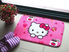 Cute Hello Kitty Floor Mat Plush Rug Skidproof Door Mat Pink Butterfly