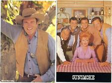 The Cast of the Television Series ~GUNSMOKE~ 2 Great Old Postcards