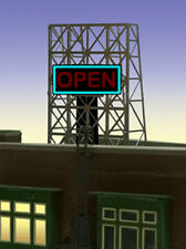 """OPEN"" ANIMATED ROOFTOP SIGN by MILLER ENGR-N & Z SCALE-1"" W X 1.35""T  TOP BUY!"