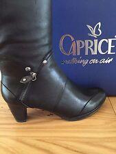 CAPRICE BOOTS 9-25556-35 WALKING ON AIR Black SIZE 6/39 3 INCH HEEL & ZIP