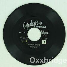 JESIE BELVIN Let Me Love You Tonight MODERN 1956 Early Doo Wop ORIGINAL 45 Vinyl