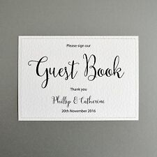 Personalised Wedding Memory Guest Book Sign - Bride & Grooms Name & Wedding Date