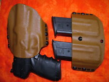 HOLSTER COMBO COYOTE KYDEX FITS FN 5.7 USG FIRST GEN WITH DOUBLE MAG HOLSTER