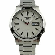 Seiko 5 Automatic Stainless Steel White Dial Men's Watch SNK789K1 PREOWNED