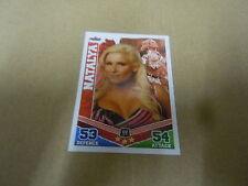 Carte catch Slam Attax Mayen 2010 Rouge - Natalya