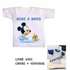 Mini tee shirt voiture bébé garçon à bord personnalisé réf 19