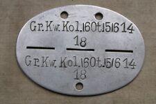 Erkennungsmarke WH Gr. Kraftwagenkolonne 160t  Nachschub Aluminium 2.WK orig.