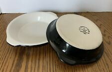 2 ~HF Coors Round Souffle Dishes With Handles China TM Chefsware 93 Black White