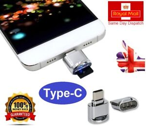 Metal Type-C Micro SD TF Card Reader for Samsung Galaxy, Huawei, Android, iMac