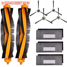 Side Filter&Brush for ECOVACS DEEBOT 900 901 Robotic Vacuum Cleaner Parts Sets