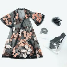 "FASHION ROYALTY LOVETONES 12"" DOLL FORBIDDEN FLOWERS LENA KIMONO BODY SCARF"