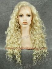 New! Stylish Light Blonde Front Lace Wig Beautiful Long Curly Wig Hair