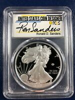 2020 W Proof $1 American Silver Eagle WWII 75th PCGS PR70DCAM FDOI V75 SIGNED