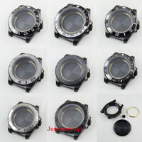 40mm Black PVD Plated Watch Case Fit ETA 2836 MIYOTA Movement  Sapphire Glass