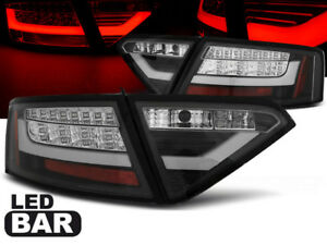 LED REAR TAIL LIGHTS LDAUE1 AUDI A5 COUPE 2007 2008 2009 2010 2011 BLACK