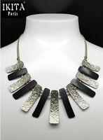 Luxus Halskette Statement Kette IKITA Paris Choker Collier Vergoldet Emaille