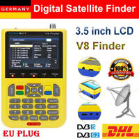 "V8 Freesat Satfinder 3,5"" LCD Digital Satellite Finder Meter DVB-S/S2 FTA MPEG-2"