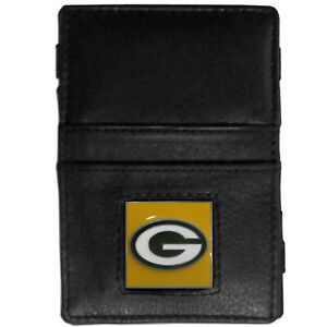NFL GREEN BAY PACKERS WALLET JACOB'S LADDER STYLE FINE GRAIN LEATHER NEW