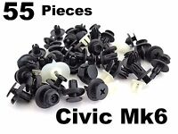 Plastic Trim Clip Kit for Honda Civic- Bumper, Wheel Arch & Undertray Clip Set