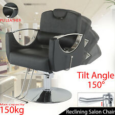 More details for adjustable hydraulic reclining barber hairdressing beauty salon chair new