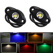 "2x 2"" CREE LED Rock Light Car Under Body Wheel ATV 4X4 Offroad Truck Boat Lamp"
