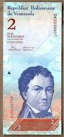 Venezuela UNC Note 2 Bolivares Bs December 2008 P-88