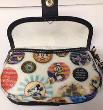 Disney Button Mickey Donald Duck Cats Flap Wristlet Wallet  Dooney & Bourke